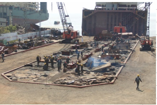 Ship recycling yard on work<br/>