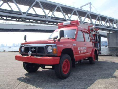The fire engine to be donated from Association of Fukui Peru friendship